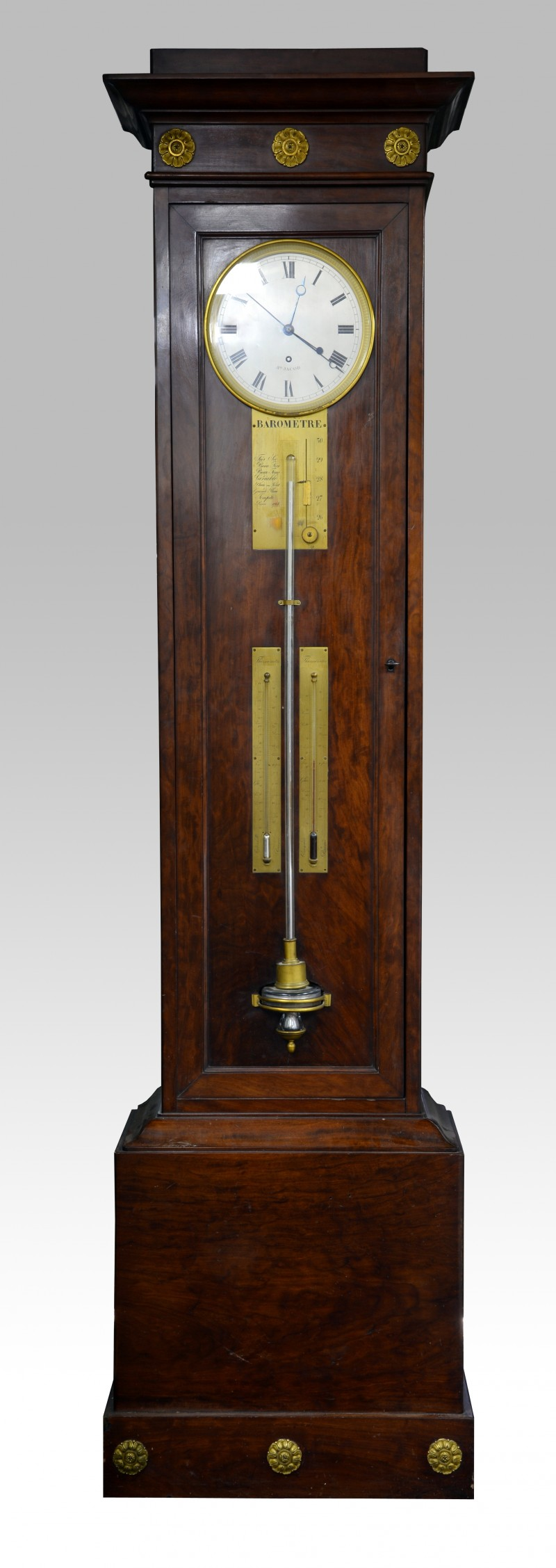 A fine 19th century French mahogany long-case regulator, by Jean-Aimé Jacob, had a final price of £9,398