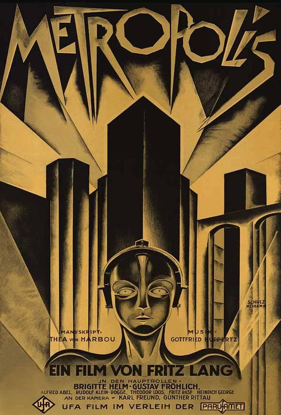 """""""Metropolis"""" (1927, UFA), Plakat für den deutschen Markt"""