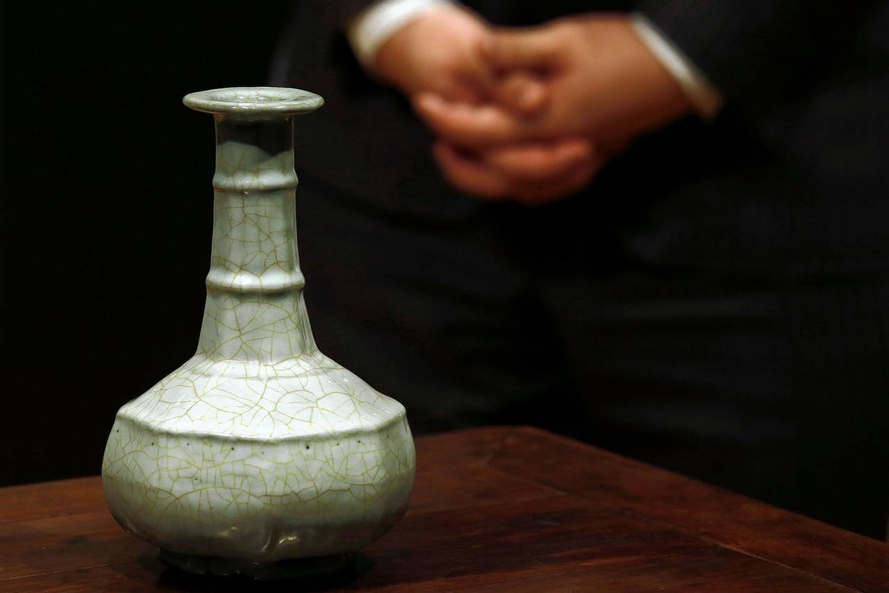 Vase de la dynastie Song vendue pour $14.7 par Sotheby's- Photo: wall street journal