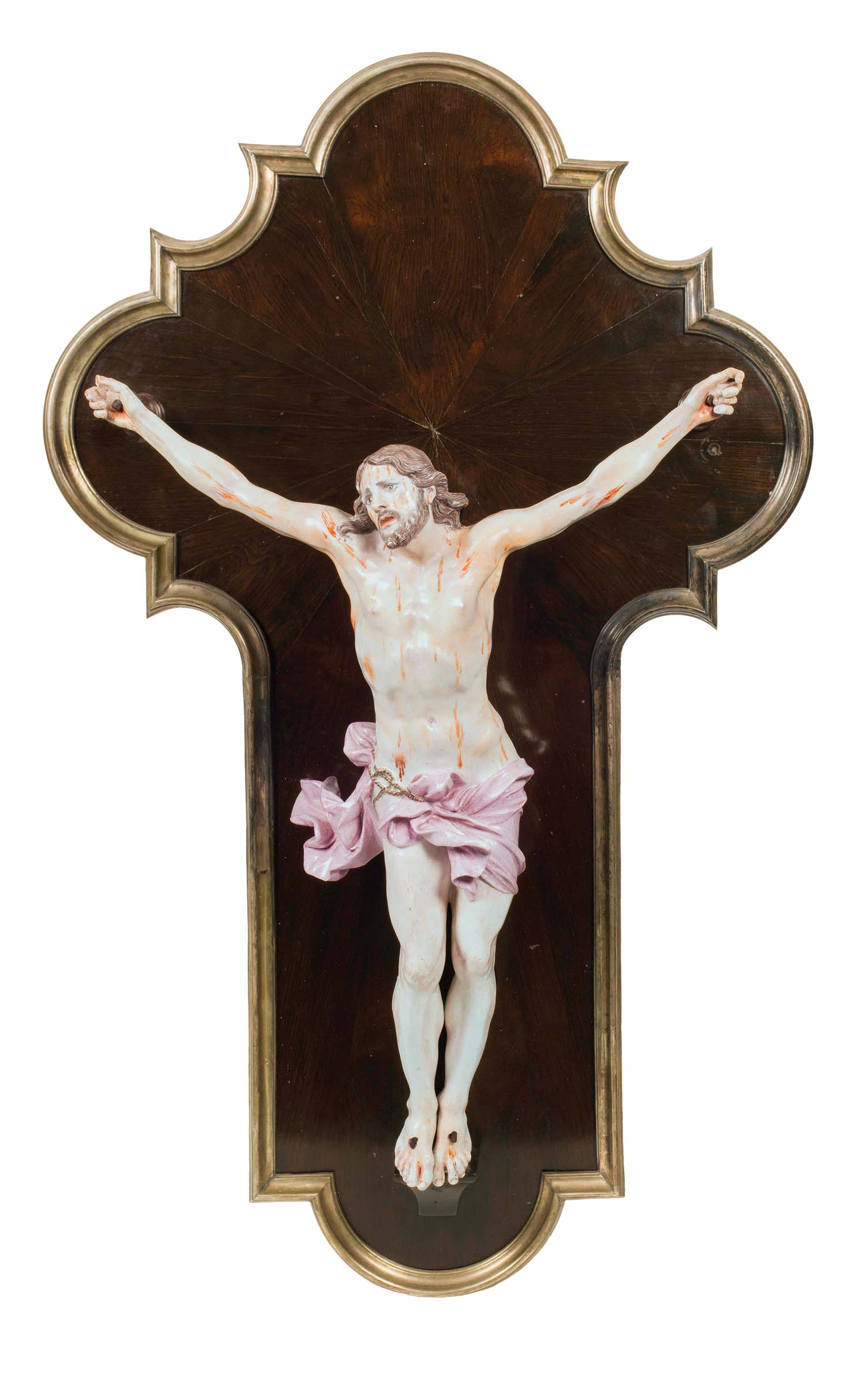 A crucifix sculpture from a model by Alessandro Algardi