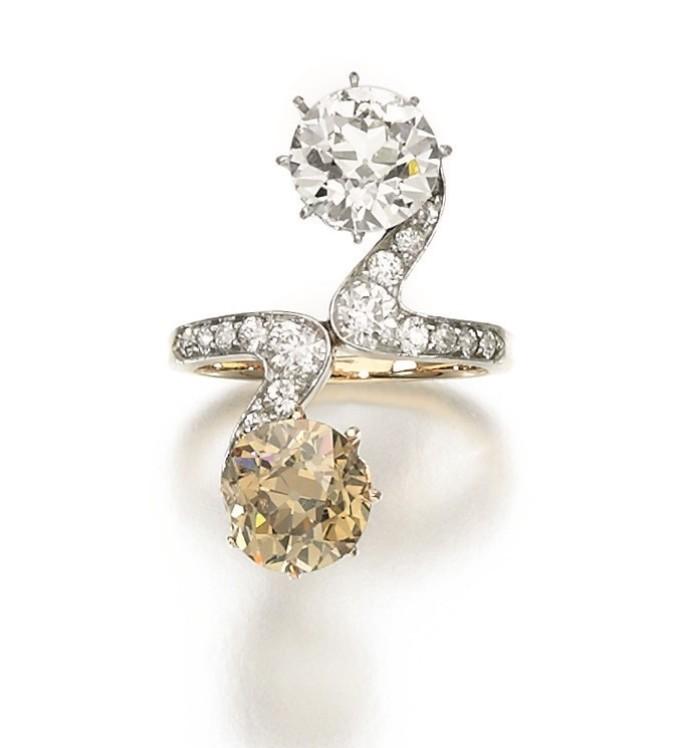 Anello con diamanti Toi et Moi, discendenti della famiglia Bloch-Bauer, immagine © Sotheby's