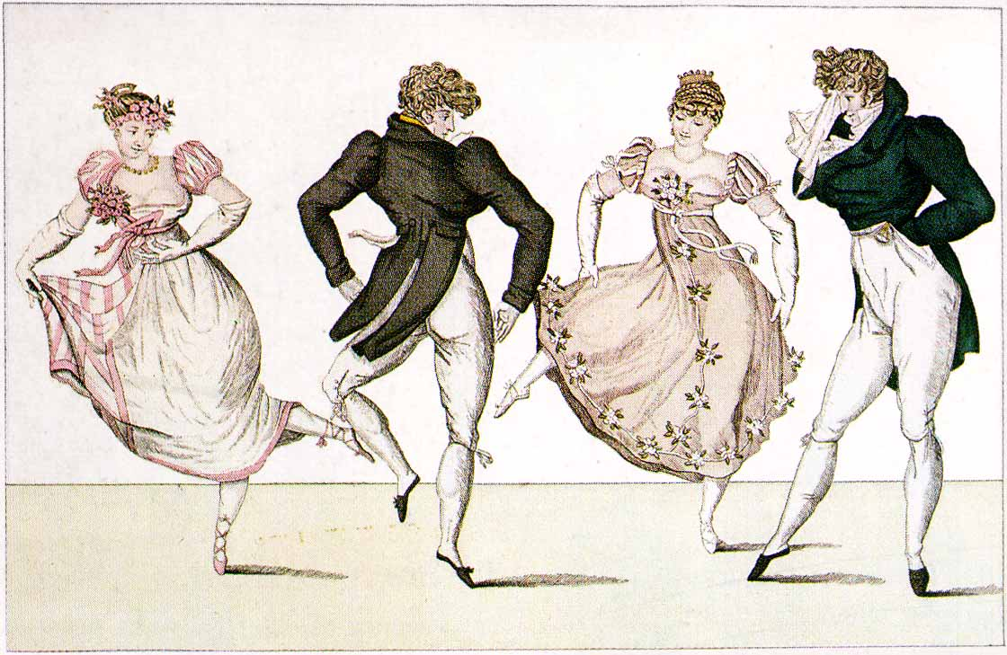 Unknown artist, 'Elements of the Art of Dancing'', 1822. Photo: Pinterest