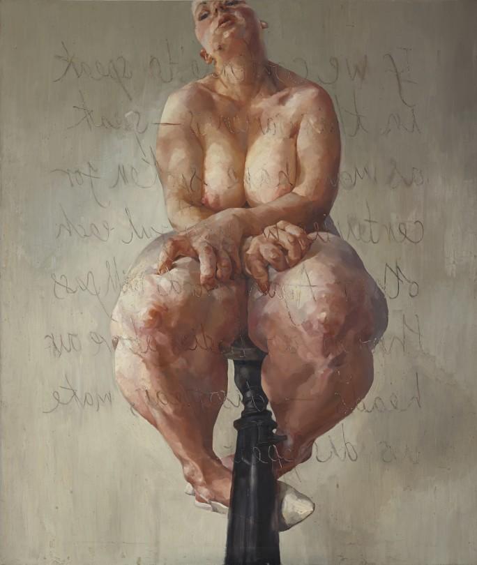 Jenny Saville, Propped, 1992. Bild: Sotheby's