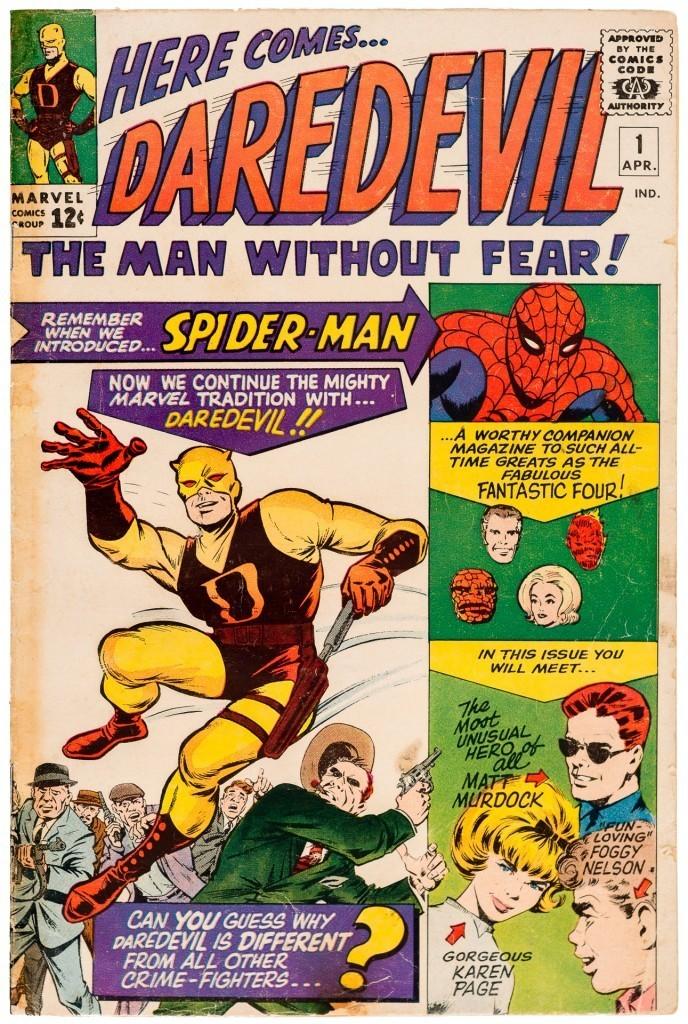 Förstautgåvan av Daredevil 1964.