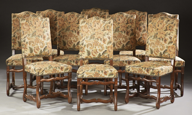 Set of 11 French dining chairs