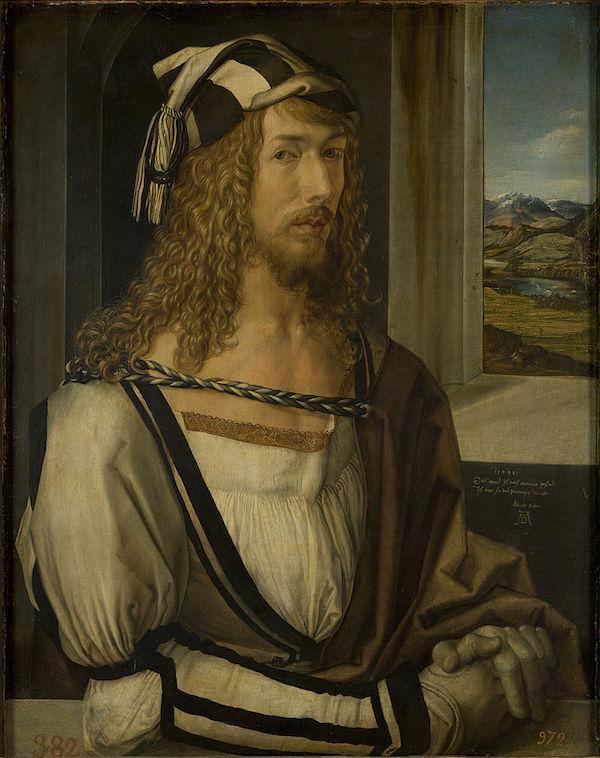 Albrecht Dürer (1471-1528). Självporträtt från 1498.