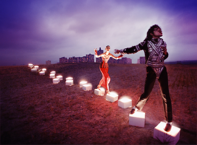 "David LaChapelle, ""An illuminating path, 1998A ©DAVID LACHAPELLE"