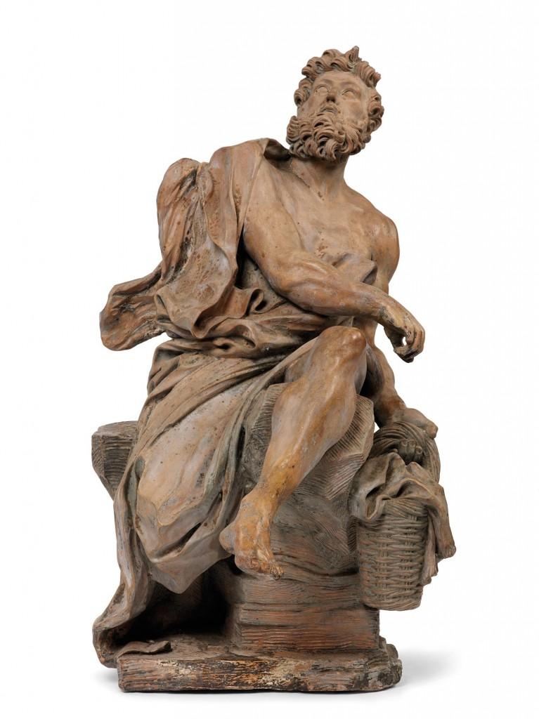 Römischer Bildhauer - Habakuk, Terrakotta mit Spuren einer Vergoldung, 47 x 27 x 23 cm Schätzpreis: 30.000-50.000 EUR