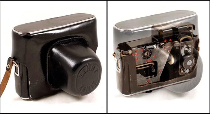 Optische Täuschung: Kameratasche mit verstecktem Fotoapparat   Foto: ©Aston's