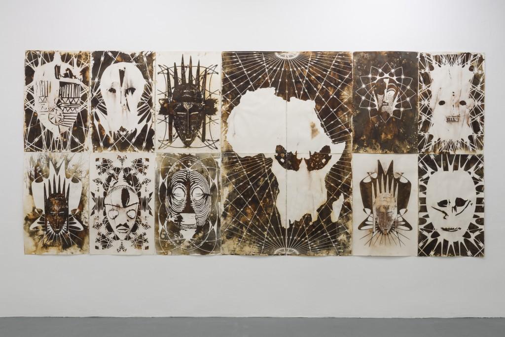 Kendell Geers, Drawings installation view, ADN Galería, 2016 ADN Galería