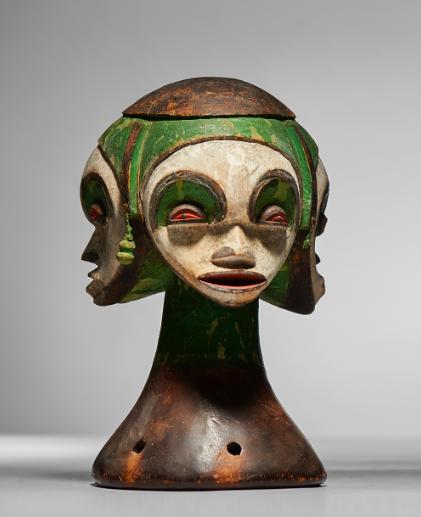 Masque Idoma, bois et pigments, Nigeria, image ©Native