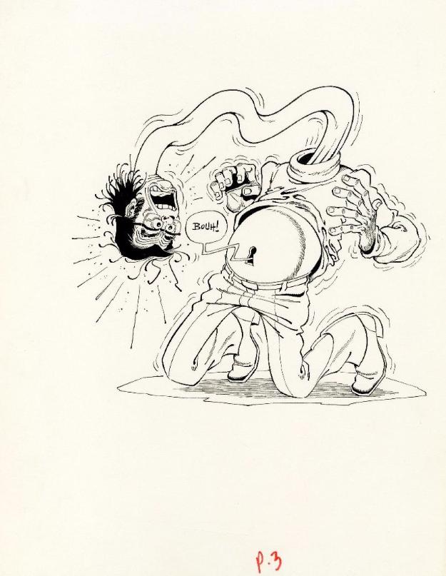 Marcel GOTLIB, Rhââ Lovely, Encre de Chine pour la couverture du troisième album Huberty Breyne Gallery