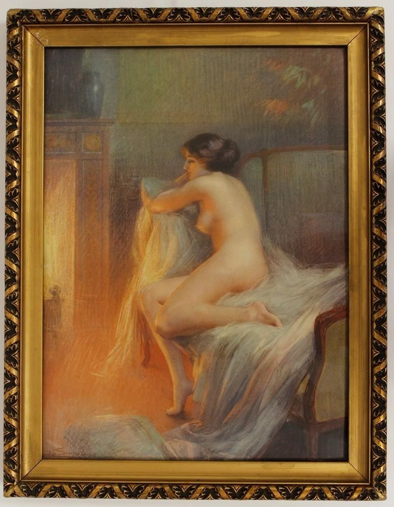 DELPHIN ENJOLRAS (1857-1945) - Aktgemälde, Aquarell, Pastell/Karton, 52 x 38 cm Ausruf: 3.000 EUR