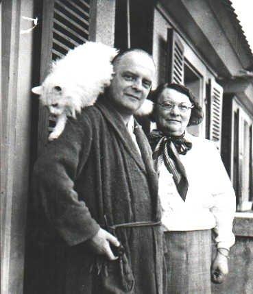 Paul Klee, seine Frau Lily und Katze Bimbo