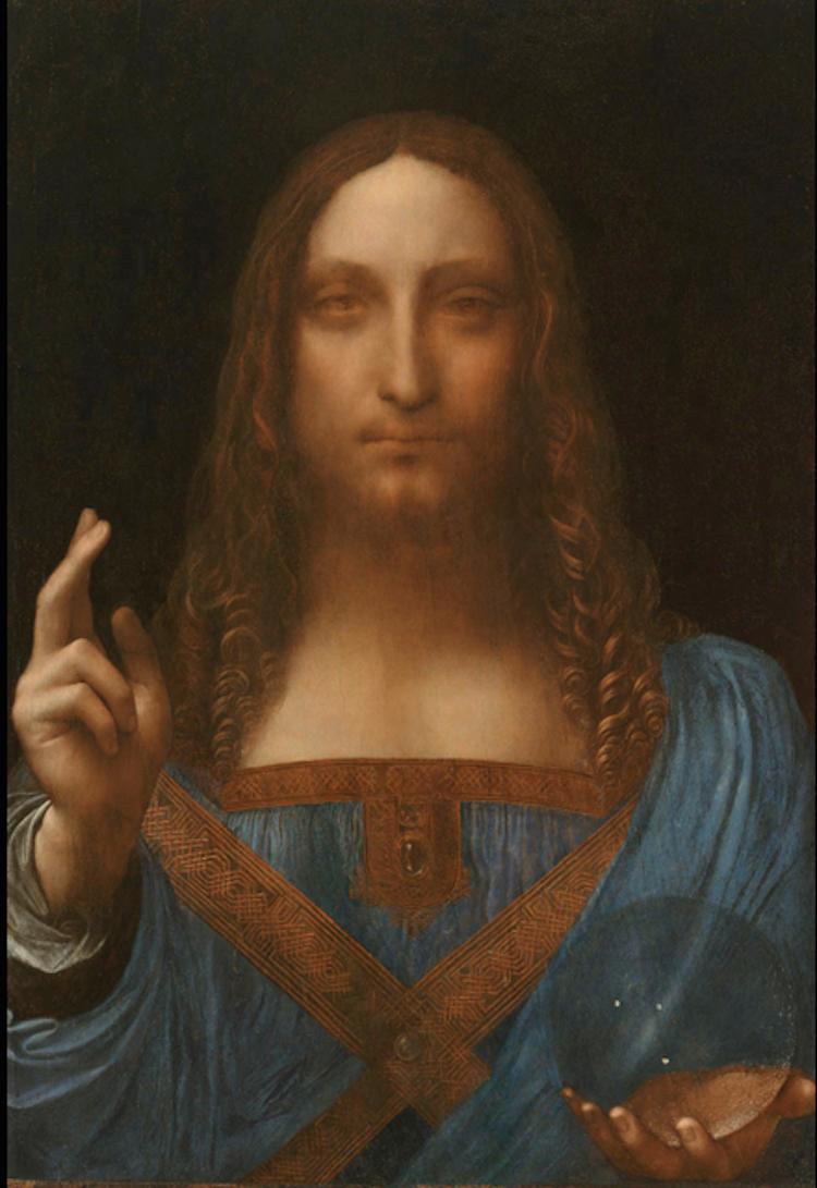 """Leonardo Da Vinci """"Salvator Mundi"""", 1490-1519. Köpt för ca 1.1 miljarder SEK."""