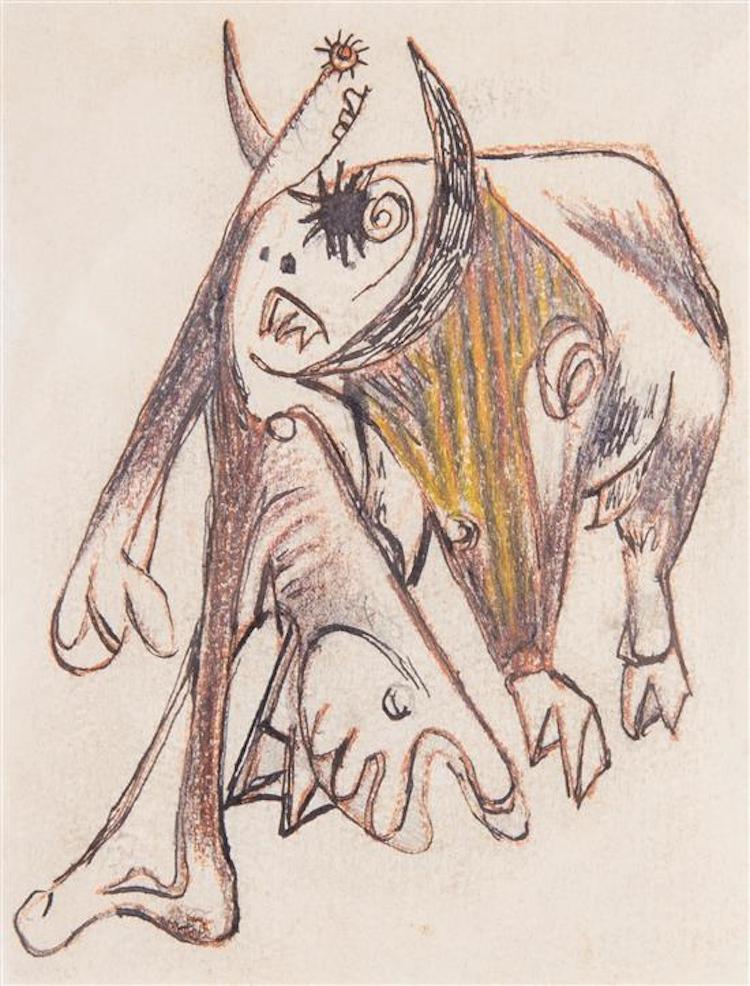 Jackson Pollock (Amerikan, 1912-1956). Utropspris 347 000 SEK, Leslie Hindman Auctioneers