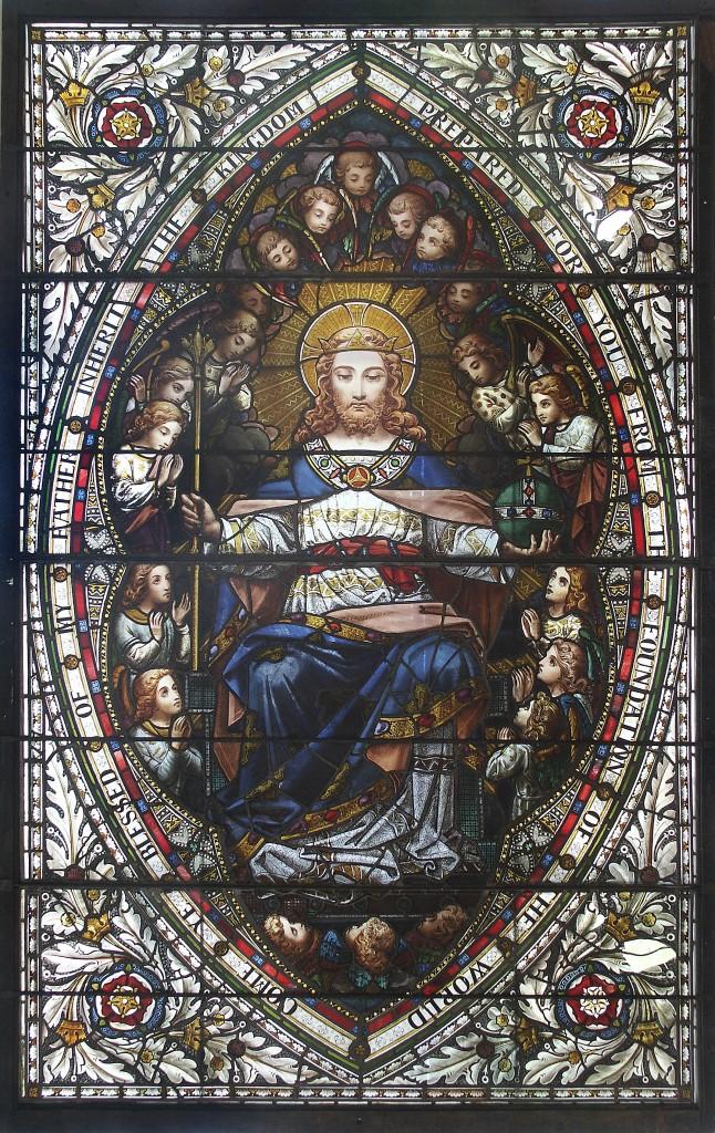 Kat.-Nr. 162 WARD & HUGHES (HENRY HUGHES) zugeschr. - Christus als Weltenherrscher, England (London), um 1870 Schätzpreis: 8.000-10.000 EUR