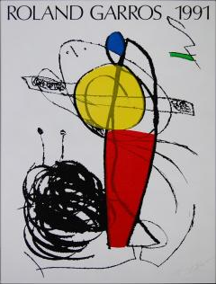 "Joan MIRÓ ""Roland Garros"", 1991 Affiche PrivateLot.com"
