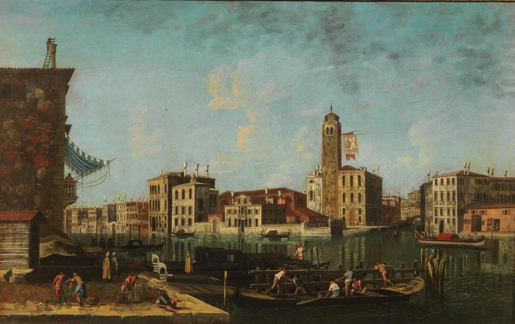FRANCESCO ALBOTTO (Venezia 1721 - 1757) - Il Canal Grande alla confluenza del Rio di Cannaregio, Öl/Lwd., 62 x 97 cm Schätzpreis: 50.000-70.000 EUR