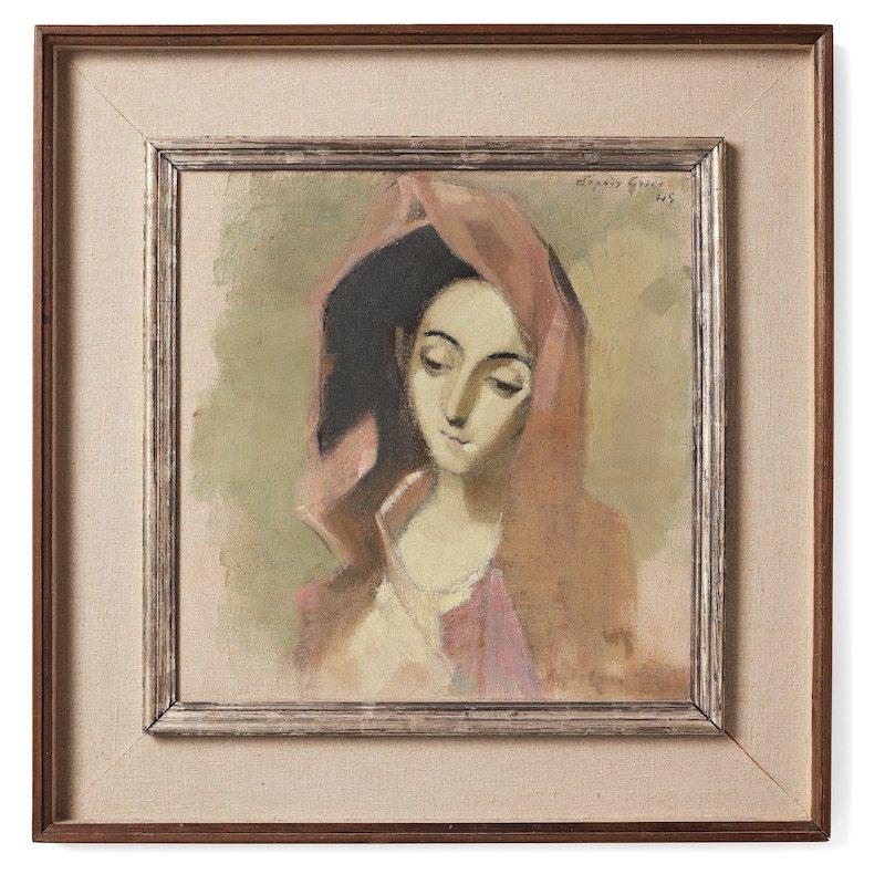 """Dyrast. Veckans dyraste målning på auktion blev utan tvekan Helene Schjerfbecks """"Vårbroddens madonna""""som klubbades för 6,5 miljoner kronor hos Bukowskis"""