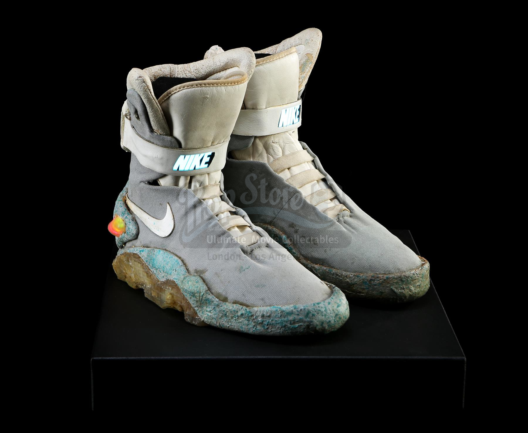 Marty McFly's (Michael J. Fox) light-up 2015 Nike shoes from Robert Zemeckis' sci-fi sequel Back to the Future Part II