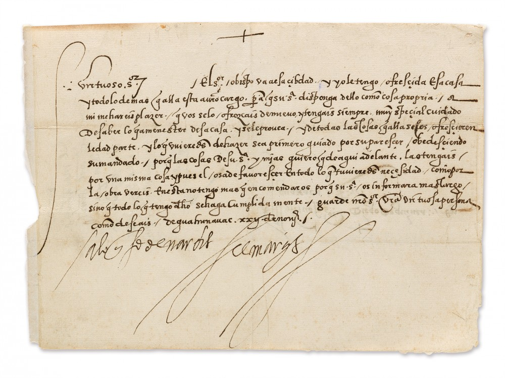 Letter written by the Spanish