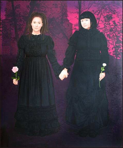 """A dream within a dream"" 2006 Olja på duk 180 × 150 cm"