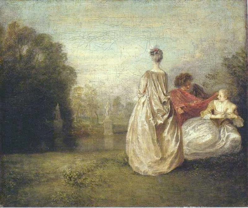 """Jean-Antoine, """"Les deux cousines"""" (1716)"""