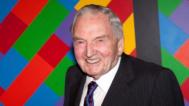 David Rockefeller en 2009 au MoMA Crédit: BLOOMBERG NEWS