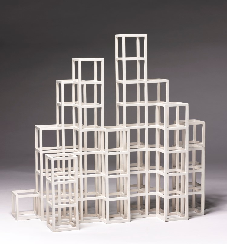 Sol LeWitt (1928 – 2007), OPEN CUBE STRUCTURE, 1997. Schätzpreis: 59 300 – 76 200 EUR. Auktion: Contemporary Curated 5. März