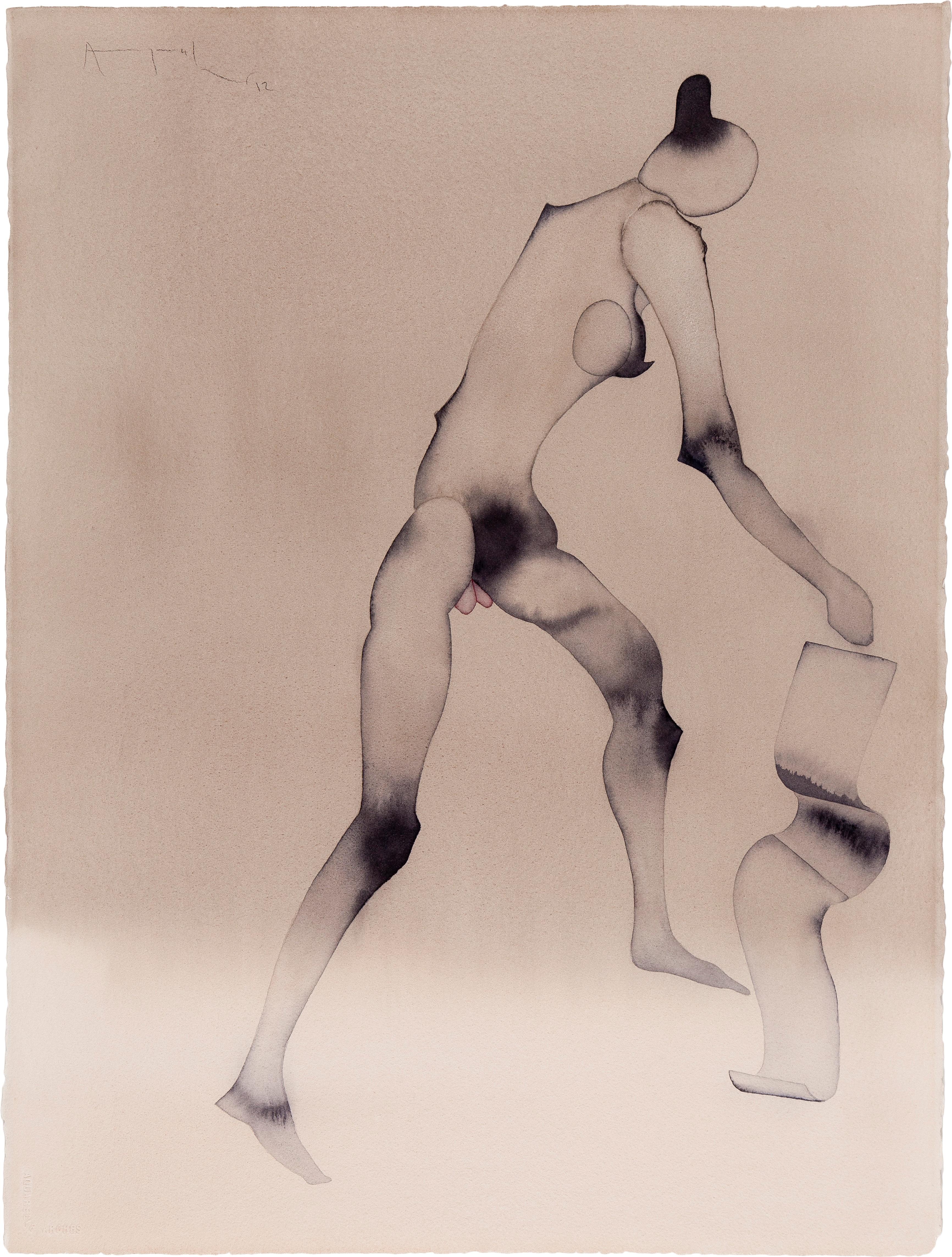 Atul Dodiya Falling Scroll, 2012 Aquarelle sur papier En vente chez Paddle8