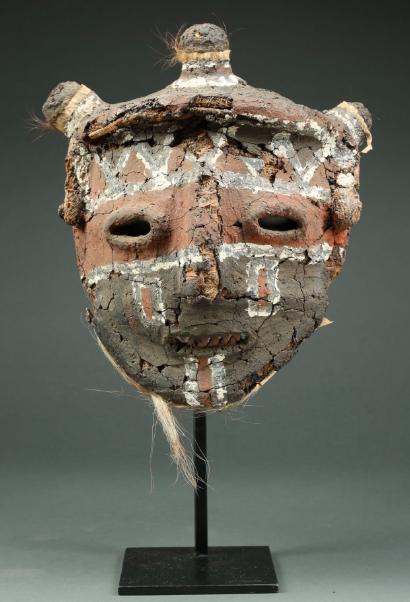 Masque représentant un lion (1910-1940) Chokwe ou Tribu Lovale, Angola, 1910-1940 Estimation: 2 500 $ - 6 500 $