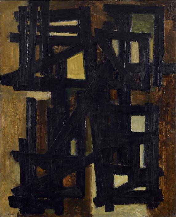 Pierre Soulages (born 1919), Peinture, 100 X 81 cm, April 5 1951