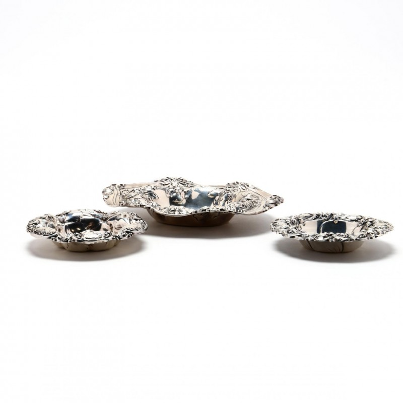 Three Art Nouveau Sterling Silver Bowls. Photo: Leland Little.