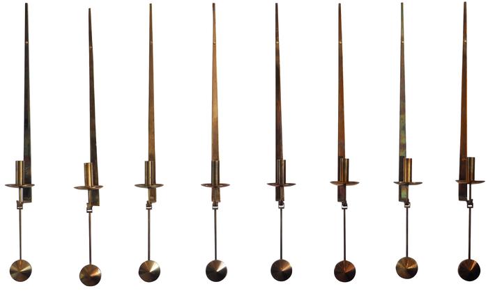 Pierre Forsell, åtta ljusstakar 1955. Utrop: 16,500 sek. Senaste bud: 9,900 sek.