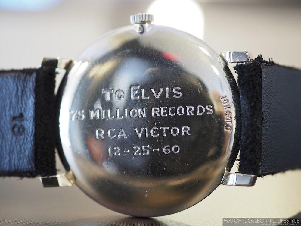 Eine Gravur erinnerte Elvis Presley daran, wofür er diese Uhr von Omega geschenkt bekommen hatte