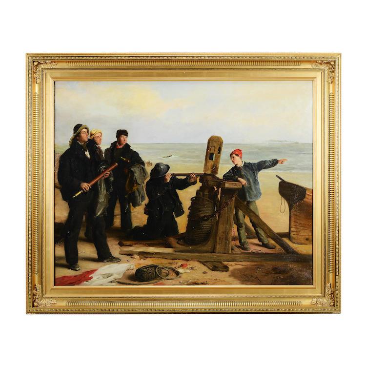 JOHN HOLLINS (1798-1855), olja på duk. Utropspris: 20 000 SEK.