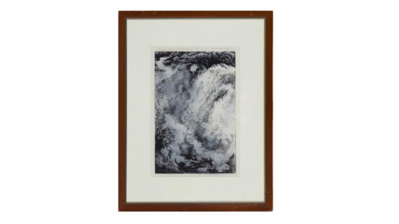 """""""Storhimmel NordNorge"""", Kaare Espolin Johnson, litografi, 75/75, 35x25 cm På auktion hos Blomqvist"""
