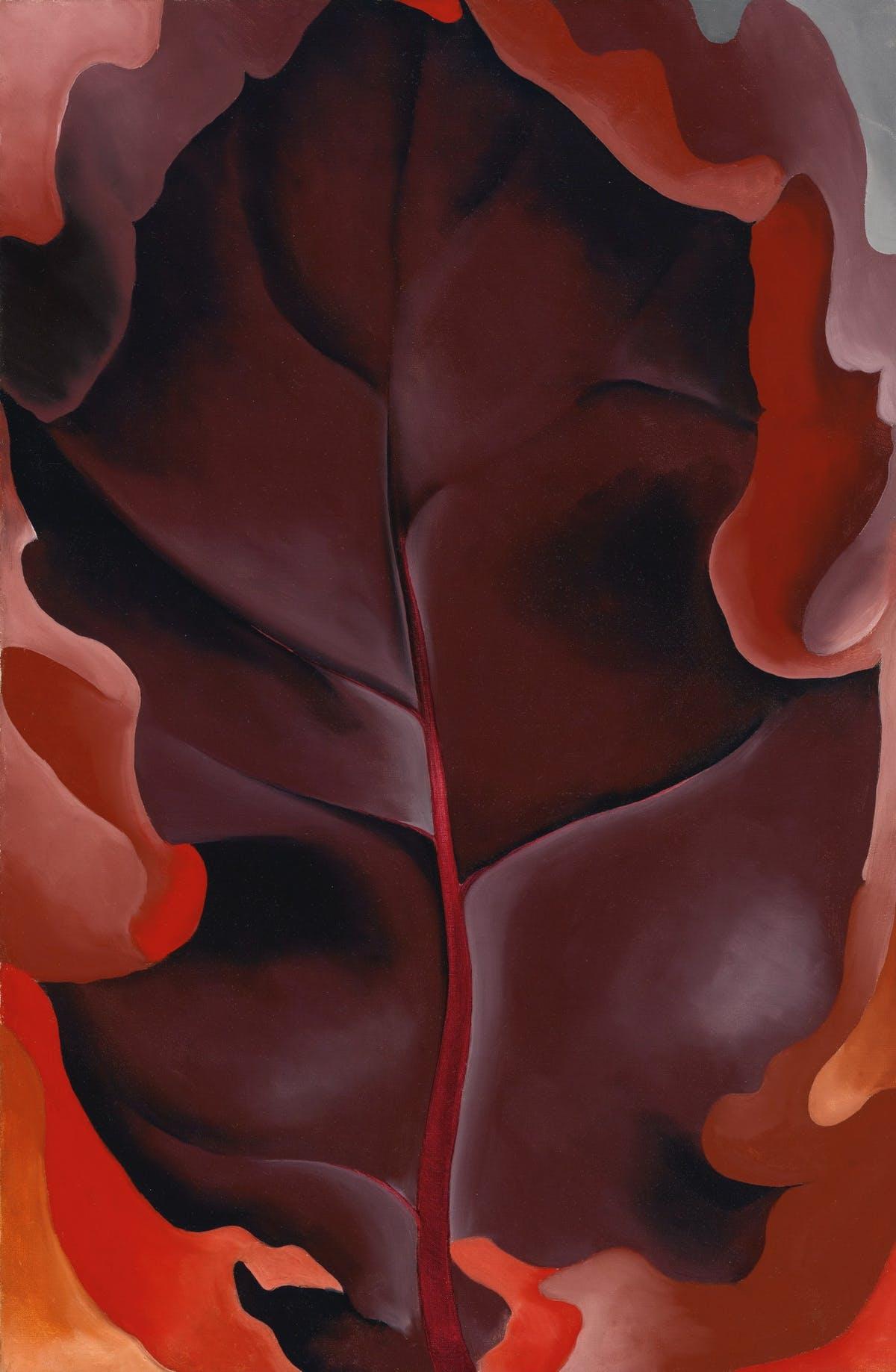 "GEORGIA O'KEFFEE. ""Autumn Leaf II"" (1927)."