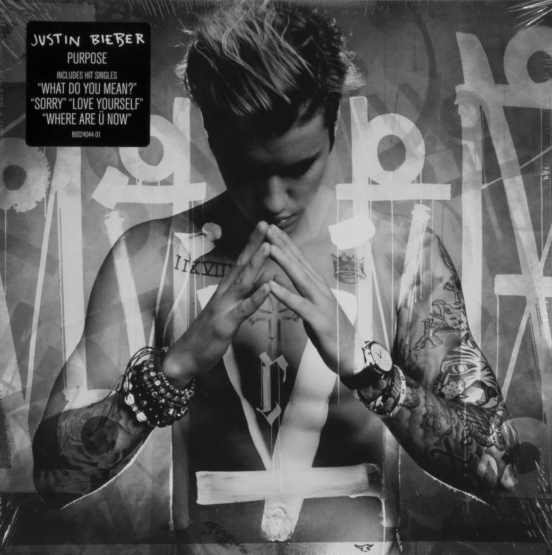 Justin Bieber: Purpose Justin Bieber, Purpose album, Sealed vinyl record album featuring cover art by RetnaJulien's Auctions