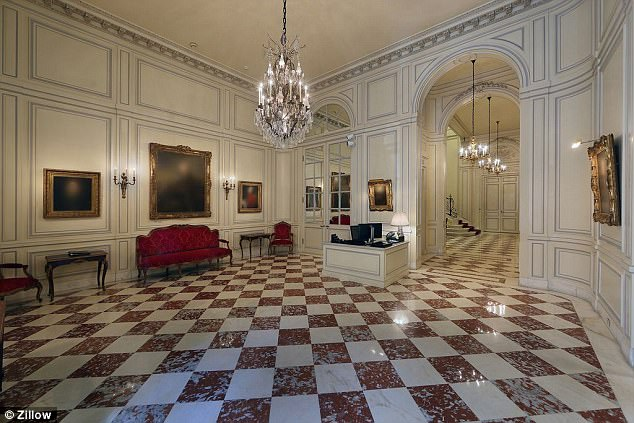 Inside the lavish townhouse that will house the Skarstedt Gallery. Photo: Zillow