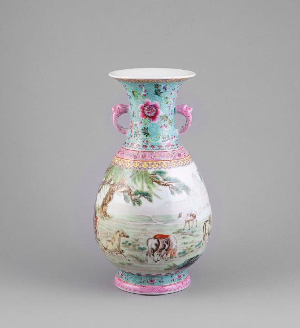 Famille Rose Vase. Photo: Adam's