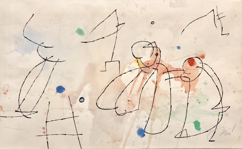 Joan Miró, « Paysage animé II », 1976, image ©Galerie Pascual