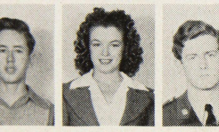 Norma Jeane Baker dans le yearbook de 1942 du lycée de Los Angeles Vendu 2100 euros aux enchères chez Catawiki