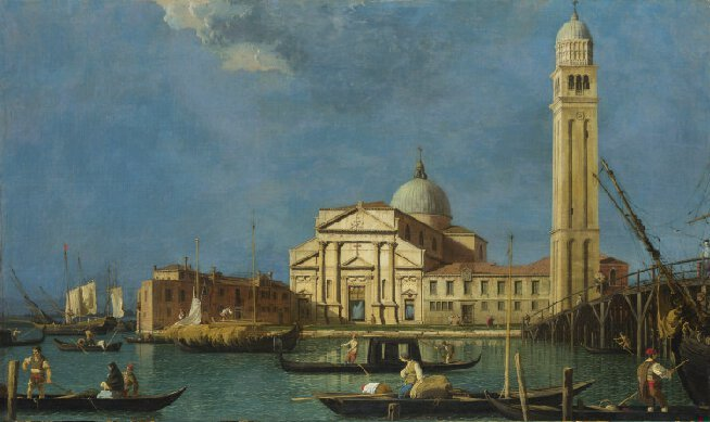 Canaletto, 'S. Pietro in Castello', c. 1730s. Collection of the National Gallery