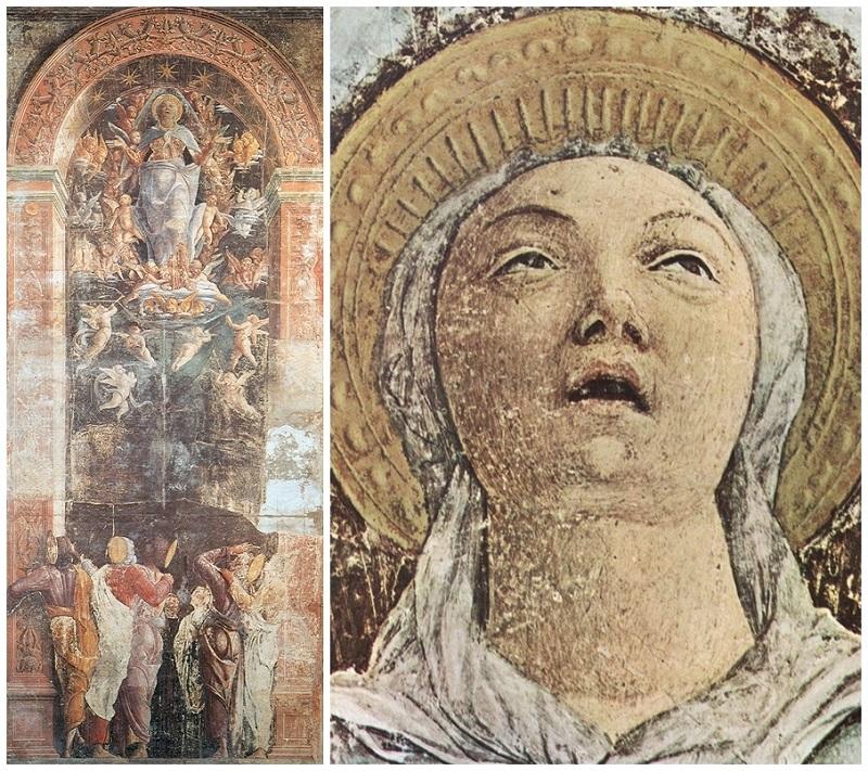 ANDREA MANTEGNA. Fresco de la Asunción de la Virgen. Iglesia de los Ermitaños. Padua