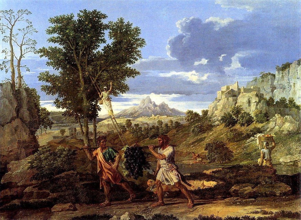 Nicolas Poussin, L'Automne (1660-64) Public Domain via Wikimedia Commons