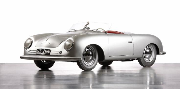 Klassiska modellen Porsche 356, år 1948
