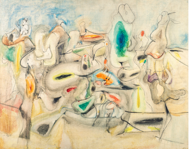 Arshile Gorky, Good Afternoon, Mrs. Lincoln, 1944, image ©Christie's