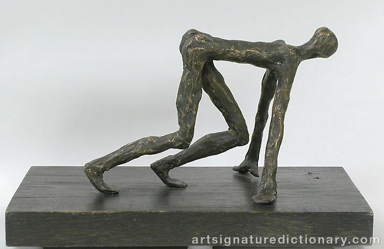 Förfalskad målning av Alberto Giacometti. Bild: Art Signature Dictionary (ASD)
